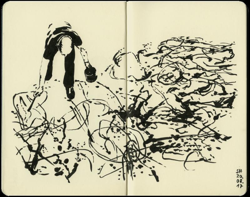 Actionpainting mit Jackson Pollock
