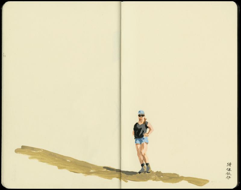 Sibylle posiert beim Wandern