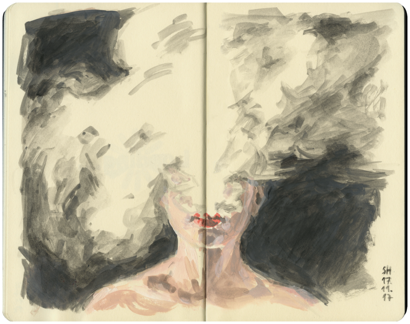 Frau, die raucht