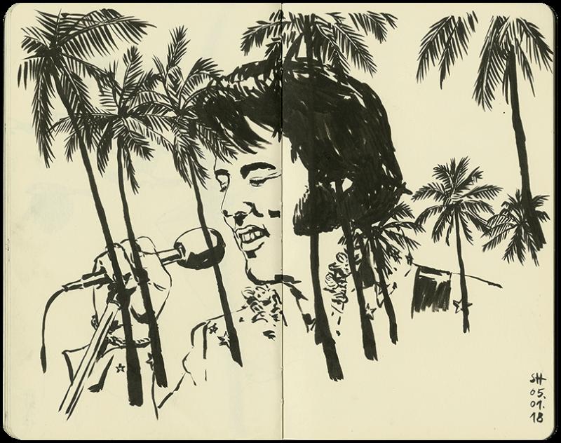 Elvis unter Palmen