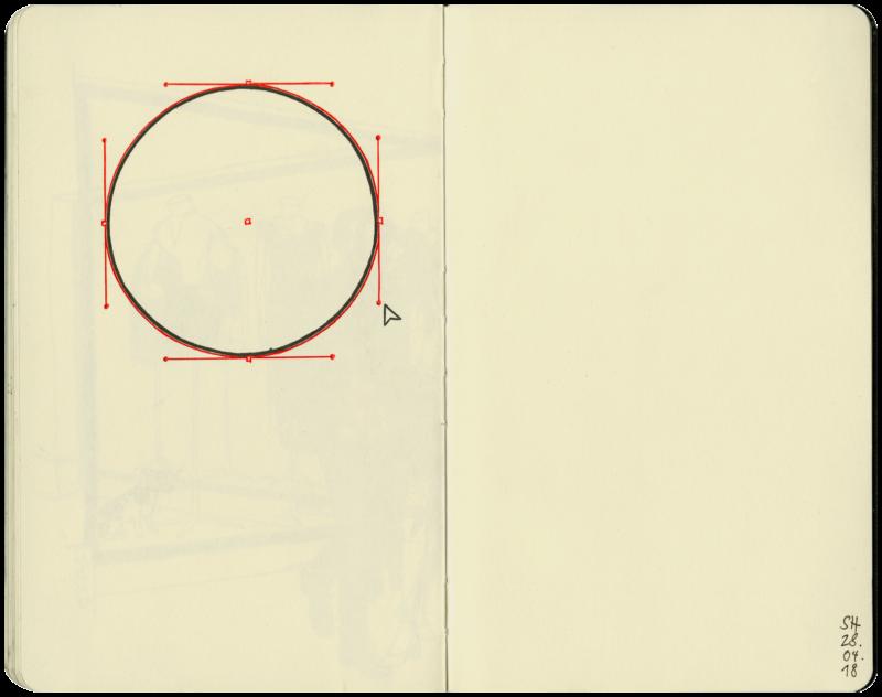 Konstruktion Kreis am Computer