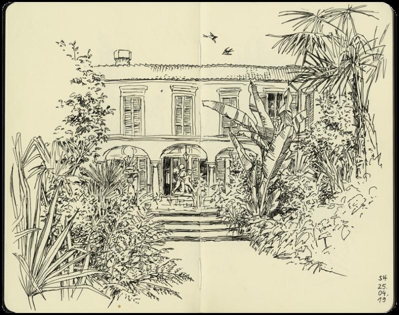 Garten der Villa Pastori